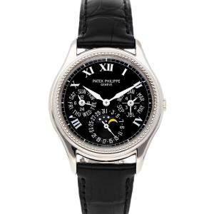 Patek Philippe Black 18k White Gold Grand Complications Perpetual Calendar 5038G Men's Wristwatch 36 MM