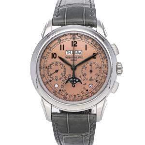 Patek Philippe Golden Rose Platinum Grand Complications Perpetual Calendar Chronograph 5270P-001 Men's Wristwatch 41 MM