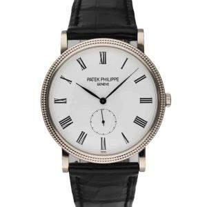 Patek Philippe White 18K White Gold Calatrava 5119G Men's Wristwatch 36 MM