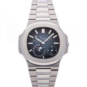 ساعة يد رجالية باتيك فيليب نوتيلوس مراحل القمر  5712/1A-001 ستانلس ستيل زرقاء 40مم