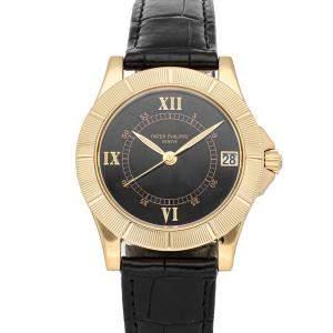 ساعة يد رجالية باتيك فيليب نيبتون 5081J-001 ذهب أصفر عيار 18 سوداء 36مم