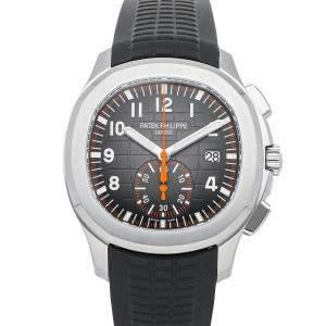 Patek Philippe Black Stainless Steel Aquanaut Chronograph 5968A-001 Men's Wristwatch 42 MM