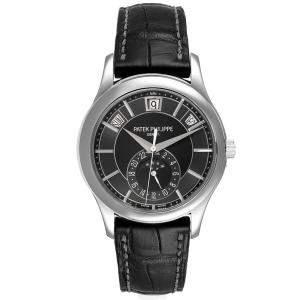 Patek Philippe Grey 18K White Gold Complications Annual Calendar 5205 Men's Wristwatch 40 MM