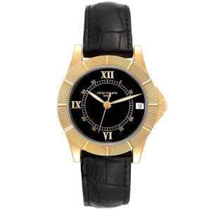 Patek Philippe Black 18k Yellow Gold Neptune 5081 Men's Wristwatch 36 MM