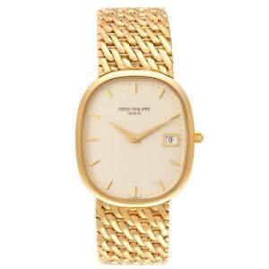 Patek Philippe Ivory 18K Yellow Gold Golden Ellipse 3747 Men's Wristwatch 35 x 31 MM