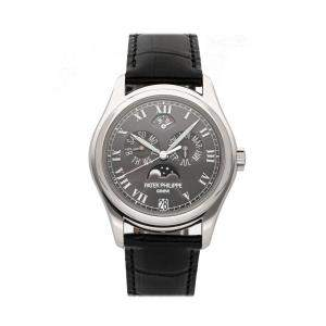 Patek Philippe Grey Platinum Complications Annual Calendar 5056P-001 Men's Wristwatch 37 MM