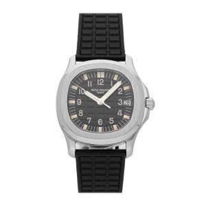 Patek Philippe Black Stainless Steel Aquanaut 5066A-001 Men's Wristwatch 36 MM