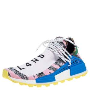 Pharrell Williams x Adidas Multicolor Fabric Solar HU NMD Solar Pack - M0TH3R Sneakers Size 45 1/3