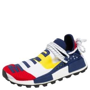 Pharrell Williams x Addidas Multicolor Stretch Fabric BBC HU NMD Sneakers Size 38