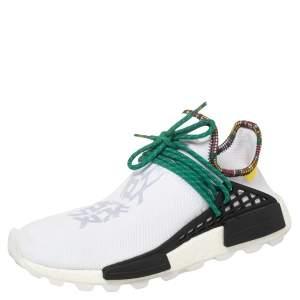 Pharrell Williams x Adidas White Fabric Human Body NMD Sneakers Size 44