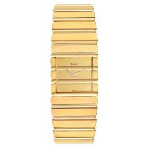 Piaget Champagne 18K Yellow Gold Polo 7131 Men's Wristwatch 25 x 22 MM