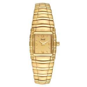 Piaget Champagne 18K Yellow Gold Tanagra M411 Men's Wristwatch 24 x 21 MM