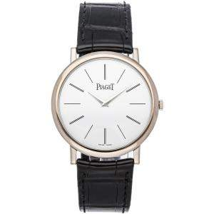 Piaget Silver 18K White Gold Altiplano G0A29112 Men's Wristwatch 38 MM
