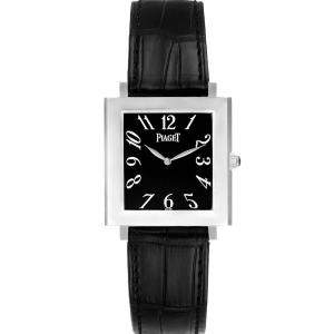 Piaget Black 18K White Gold Altiplano 9930 Men's Wristwatch 29 MM