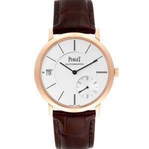 Piaget Silver 18K Rose Gold Altiplano Ultra-Thin Automatic GOA38131 Men's Wristwatch 40 MM