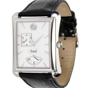 Piaget Silver 18K White Gold Emperador GOA33069 Men's Wristwatch 29.5 MM