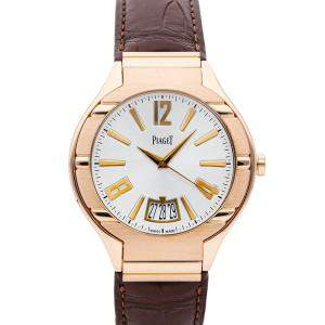 Piaget Silver 18K Rose Gold Polo G0A31149 Men's Wristwatch 43 MM