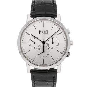 Piaget Silver 18K White Gold Altiplano G0A41035 Men's Wristwatch 41 MM