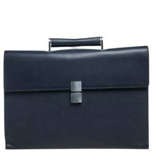 Porsche Design Navy Blue Leather French 3.0 Briefcase