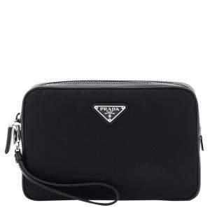حقيبة صغيرة برادا جلد نايلون سافيانو سوداء