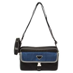 Prada Black/Blue Nylon Crossbody Bag