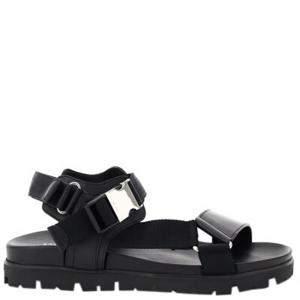 Prada Black Fussbett Sandals Size UK 10