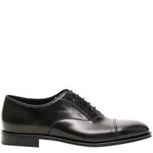 Prada Black Brushed leather Oxford shoes Size UK 5 EU 39