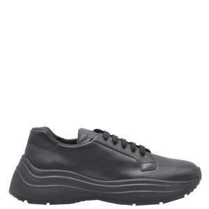 Prada Black Leather Sneakers Size UK 10/EU 44