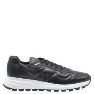 Prada Black Leather Sneakers Size UK 7.5/EU 41.5