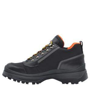 Prada Black Leather Brixen Sneakers Size EU 41