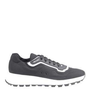 حذاء رياضي برادا نايلون رصاصي و أبيض مقاس أوروبي 40.5 (مقاس أنغليزي 6.5)