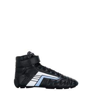 حذاء رياضي برادا مرتفع من أعلى جلد ريف أسود مقاس أوروبي 43 مقاس أنغليزي 9