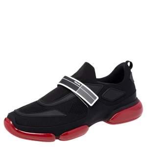 Prada Black/Red Mesh Cloudbust Sneakers Size 44