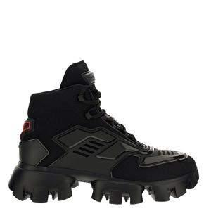 Prada Black Technical Fabric Cloudbust Thunder Sneakers Size UK 7 EU 41