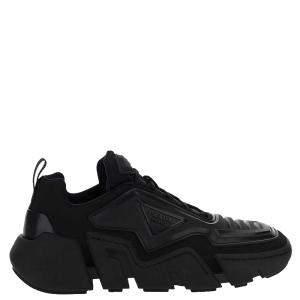 Prada Black Cloudbust Thunder Technical Fabric Sneakers Size UK 7 EU 41