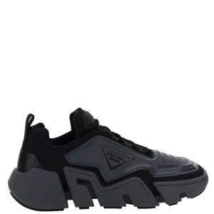 Prada Black Techno Stretch low top Sneakers Size UK 9 EU 43