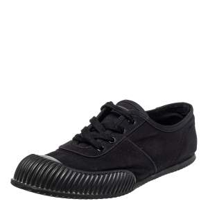 Prada Sport Black Canvas Low Top Sneakers Size 41