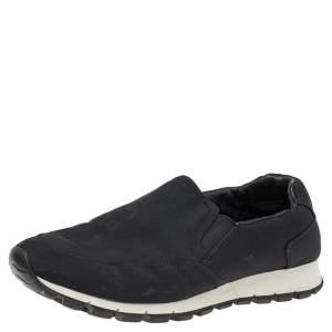 Prada Sport Black Nylon Slip on Sneakers Size 40.5