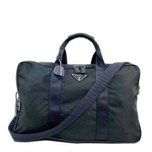 Prada Black Canvas Duffel Bag
