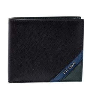 Prada Tri Color Saffiano Leather Bifold Wallet