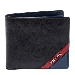 Prada Black Saffiano Leather Bifold Wallet