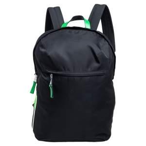 Prada Black/Green Nylon Fluo Backpack