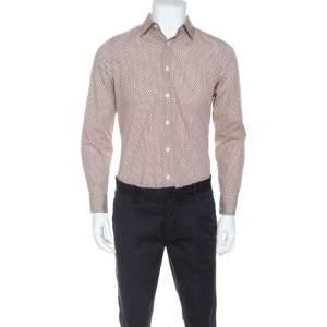 Prada Multicolor Dotted Print Cotton Button Front Shirt S