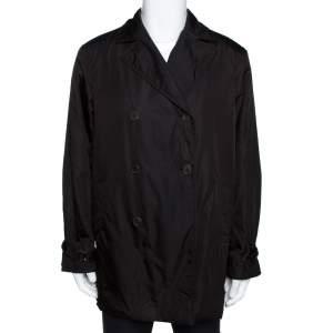 معطف برادا بصدرية مزودةجة نايلون بني مقاس كبير (لارج)