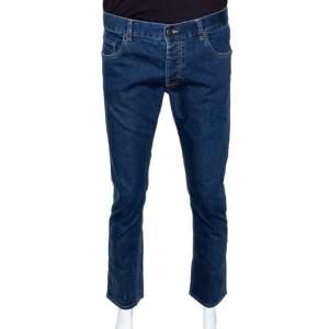 Prada Indigo Stretch Denim Straight Leg Jeans L