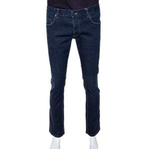 Prada Indigo Denim Tapered Fit Jeans M