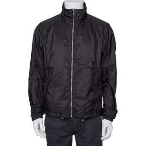 Prada Black Synthetic Zip Front Reversible Jacket L