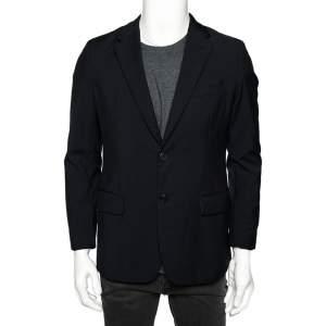 Prada Navy Blue Wool Double Button Front Blazer M