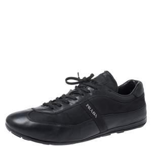 حذاء رياضي برادا ترانرز نايلون وجلد أسود مقاس 42