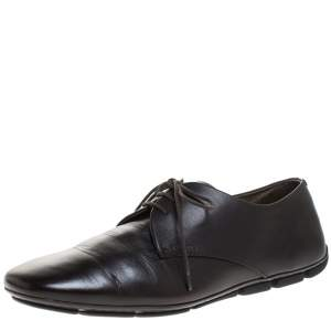 Prada Brown Leather Lace Up Derby Size 41